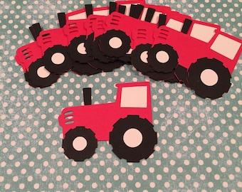 Tractor die cuts, Red Tractor die cut, Barnyard Party, Farm Barnyard Birthday Party Decorations, Barn Cut Outs, Tractor Craft, Tractor Party