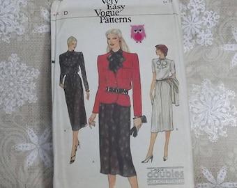 Vogue 7473 Sewing Pattern Misses Jacket Misses Dress Vintage 1970s Pattern Sewing Supply Womans Dress Womans Jacket Size 12-14 Uncut Pattern
