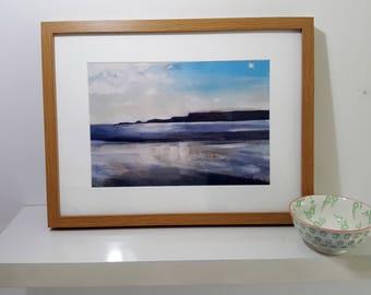 Framed Personalised Beach Seascape Fine Art Print