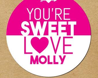 Valentines Day Stickers, Personalized Valentine Stickers, Valentines  Favors, Valentines Day Favor Stickers,