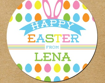 Personalized Easter Stickers, Easter Favors, Easter Favor Stickers