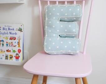 Letter Cushions, personalised cushion, keepsake gift, newborn gift