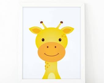 Giraffe Print, wall Art Print, Instant download, Nursery print, Kids Print, Safari Nursery Decor, Jungle printable, Animal Nursery Printable