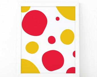 Abstract colorful, minimalist wall art, nursery print, abstract print, kids room decor, printable art, colors wall art print, shooshprints