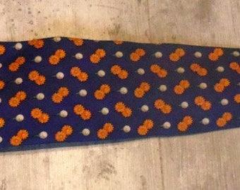 Vintage golf tie Vintage flower pattern Tie motivates golf flowers
