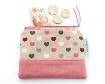 Heart money purse Heart coin purse Small money purse Coin pouch Heart money pouch Card holder Money purse Bridesmaid gift