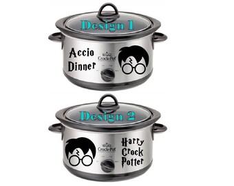 Harry Crock Potter Decal - Accio Dinner Decal - Crock Pot Decal - Harry Potter Decal - Harry Potter Vinyl Sticker - Harry Potter