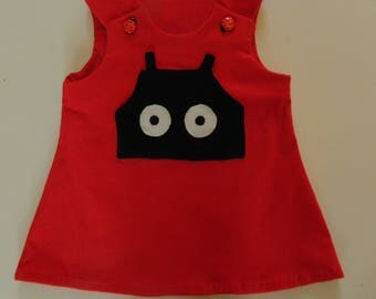 Gorgeous Red Ladybird Dress with Spots on Back and Ladybird Pocket 4-5 Years 6 Months