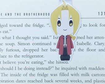Fullmetal Alchemist - Magnetic bookmark - Edward Elric || anime | brotherhood | bookmark | bookish | bookmarks | fma | magnetic bookmarks