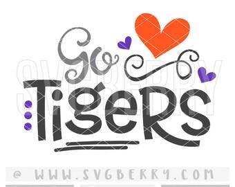 Tigers SVG / Go Tigers SvG / Football SvG Cheer Svg / Live Love Football Mom Svg / Football Sister Svg / School Spirit / Cut File /Bk Bm