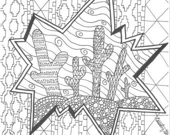 Peaceful Coloring Page