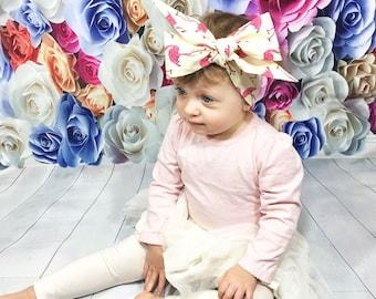 Flamingo Headwrap- Flamingo Headband; Flamingo Bow; Headwrap; Head Wrap; Baby Headband; Toddler Headband; Baby Headwrap; Toddler Headwrap