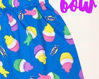 Peeps Skirt- Ruffle Skirt; Baby Skirt; High Waist Skirt; Toddler Skirt; Girls Ruffle Skirt; High Waisted Toddler Skirt; Girls Skirt