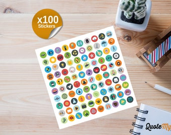 100 Technology Planner/Journal Stickers