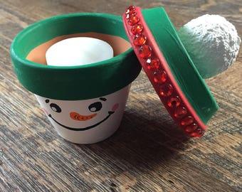Snowman Candle Votive