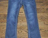 Thrifted Blue Jeans, Women's Dark Blue Jeans, Hydraulic Jeans, 9/10 Jeans, Thrift Clothing, Gift for Her, Women's Jeans, Dark Denim, Jeans
