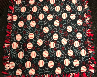 Baseball Stars Fleece Blanket