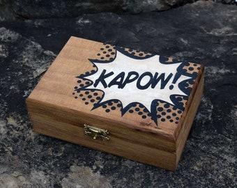 Kapow Comic Book Wooden Trinket Box