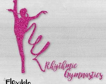 Rhythmic Gymnastics Ribbon Iron-On Transfer