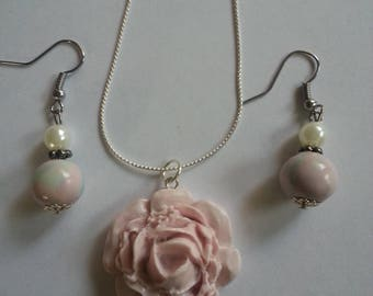 Rose Flower - Polymer Clay Jewelry