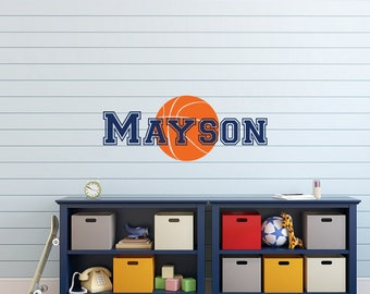 Personalized Basketball Name Wall Decal   Basketball Wall Decor   Sports  Wall Decal   Custom Wall