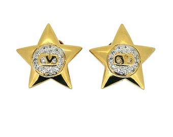 Valentino 1990s Gold Plated Vintage Star Earrings