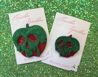 Snow White disney inspired poison apple brooch / necklace