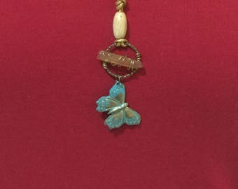 BUTTERFLIES ARE FREE / Boho Hippie necklace