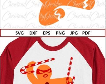 Gingerbread man Svg Funny Christmas SVG files Ninjabread svg for Cricut Candy Cane Svg Christmas shirt Svg for boy Christmas vinyl cut file