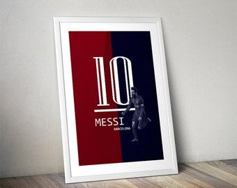 Lionel Messi Barcelona Instant Download Poster Luis Suarez Ousmane Dembélé Coutinho Football Print Soccer Art La Liga Spain Real Madrid
