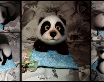 Tikhon The Panda - 100% Handmade Needle Felted Wool Animal