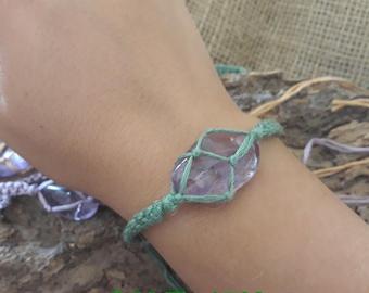 Macramé bracelets with Amethyst