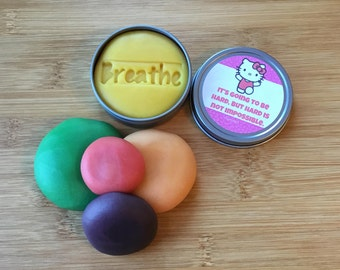 Hello Kitty, aromatherapy calming dough, stress relief, affirmations, fidget, adhd toy, play doh, party favors, sensory, stocking