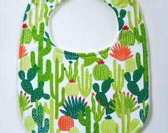Drool Baby Drool, Super Absorbent Cactus Bib (Snaps)