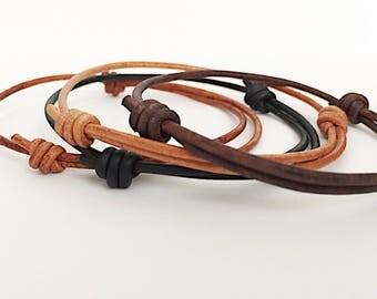 Mens Bracelet Leather Outdoors Gift Travel Gift Adjustable Bracelet Unisex Jewelry Gift for Him Guy Bracelet Mens Gift Women Bracelet Gift
