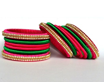 Silk Thread Bangles/ Indian Thread Bangles for Her