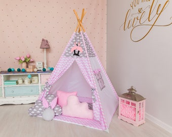 Teepee with mat, Childrens teepee, Wigwam, Kids Teepee, Playhouse, Tee pee, Kids teepee tent, play tents, teepee for kids, tipi