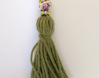 Yarn tassel Free Shipping green jewelry tassel purse ornaments clothing jewelry accents yarn accents tassel garlands party decorations