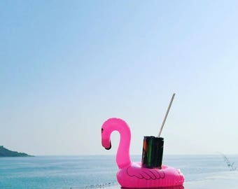 1 pc to 60 pcs Pack Inflatable Flamingo Drink Holder/ Coasters (FREE SHIPPING)