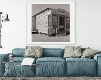 Old Texas Post Office Photo, Art Print, Black & White, Street Scene, Finlay Texas Photos, Texas Art Print, Country Photo Wall Decor, 1937