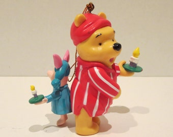 Winnie The Pooh And Piglet In Pajamas Ornament By Noma