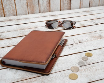 Leather Notebook Cover,  A5  Notepad Cover, Journal Cover, Notebook cover,Leather journal cover,  A5 leather journal, leather planner cover,