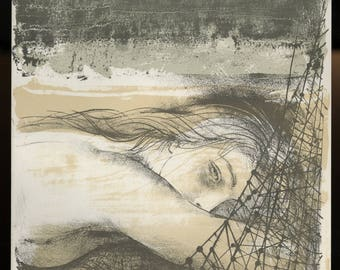 "PIERRE-YVES TREMOIS (French, 1921-2010), ""Helene"", 1964, original lithograph."