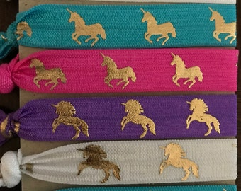 Unicorn Hair Ties, Unicorn Gift, Unicorn, Unicorn Elastic, Unicorn Birthday, Unicorn Favors, Unicorn Party, Unicorn Bracelet, Unicorn Lover