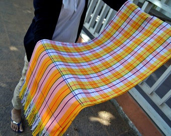 Scarf Handmade Cotton 100% Eco-Friendly made from pha-kao-mah - Limited made