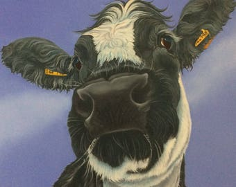 "british blue cow painting ""Delilah"""