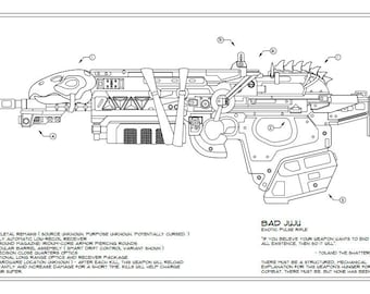 Destiny: Bad Juju Schematic Drawing