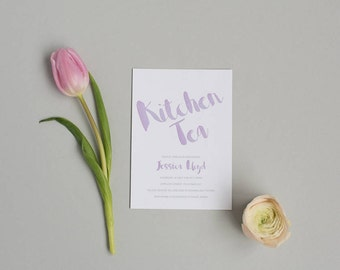 Printable Bridal Shower Invitation - Pretty Coral Kitchen Tea Invitation - Hen Party Invitation - Printable PDF Template