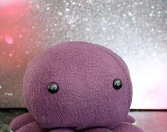 Purple Kawaii Octopus Plushie - Stuffed