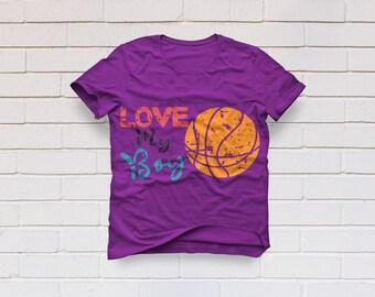 Basketball svg, Love my boy svg, Basketball mom svg, Mom Shirt, SVG Files, Cricut, Cameo, Cut file, Files, Clipart, Svg, DXF, Png, Pdf, Eps